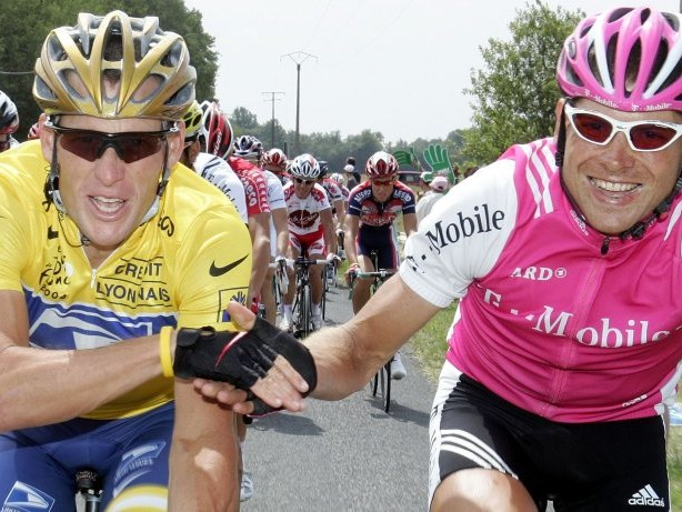"""Radsport: """"Bedeutet mir die Welt"""": Armstrong und Ullrich strampeln gemeinsam"""