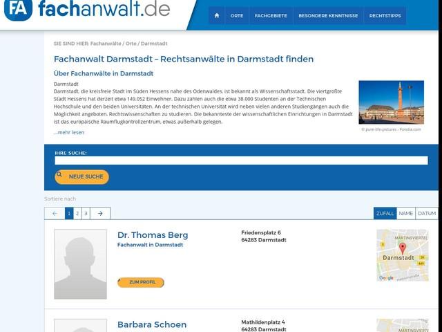 Fachanwalt Darmstadt - Rechtsanwalt jetzt finden!