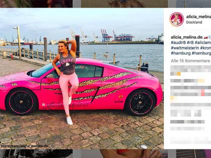 Audi R8 sichergestellt Ex-Schönheitskönigin mit Poser-Auspuff?