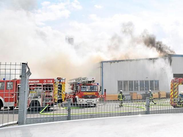 Münsterland: Brand bei Hewitech
