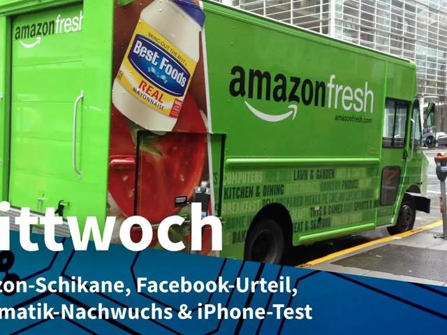 Mittwoch: Amazon-Schikane, Facebook-Urteil, Informatik-Nachwuchs & iPhone-Test