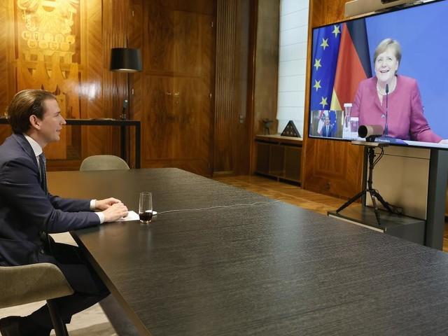 Kurz besprach Pandemie und EU-Gipfel mit Merkel