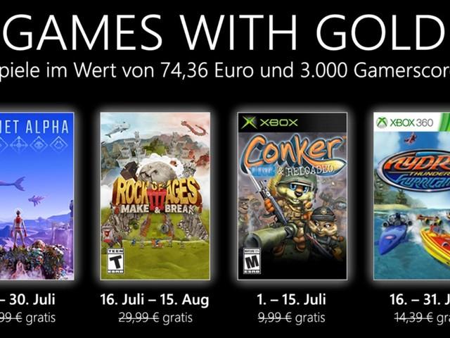 Xbox Games with Gold: Im Juli 2021 mit Planet Alpha und Rock of Ages 3