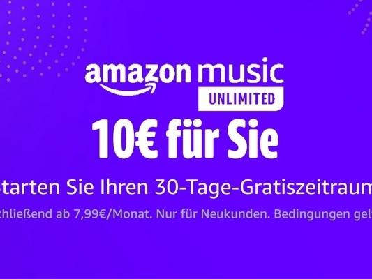 Amazon schenkt euch 10 Euro – jetzt Amazon Music Unlimited kostenlos testen