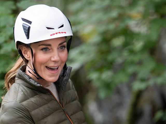 Mountainbiking, Klettern, Abseilen: Herzogin Kate scheint in ihrem Element