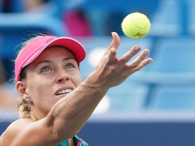 Niederlage gegen US-Amerikanerin - Wimbledonsiegerin Kerber scheitert im Achtelfinale von Cincinnati