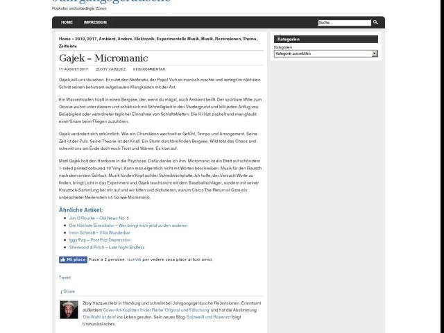 Gajek – Micromanic