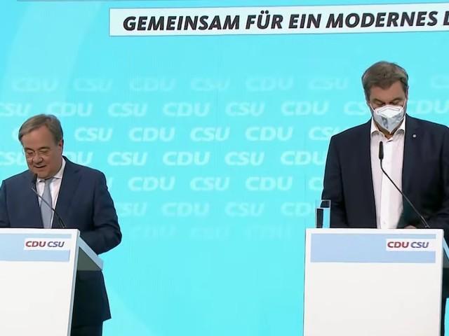 Pressekonferenz im Live-Ticker - Knapp 140 Seiten: Jetzt stellen Laschet und Söder das Wahlprogramm der Union vor