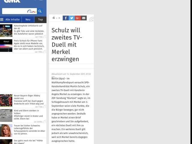 Schulz will zweites TV-Duell mit Merkel erzwingen
