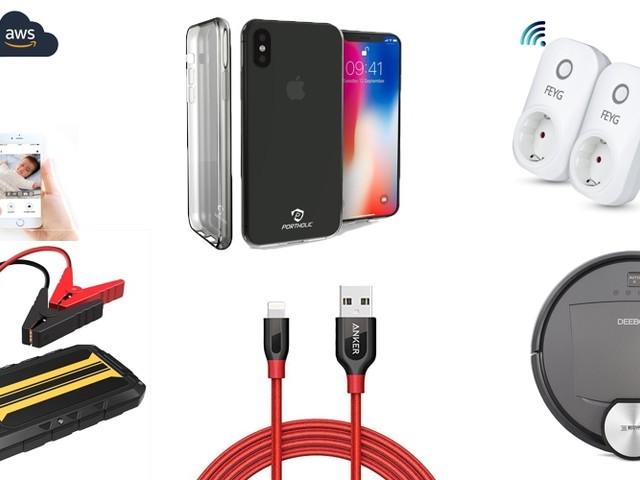 Amazon Blitzangebote: iPhone X Hüllen, Anker Lightning-Kabel, Saugroboter, smarte Wifi-Steckdosen, 4K Actioncam, Alexa-LEDs und mehr
