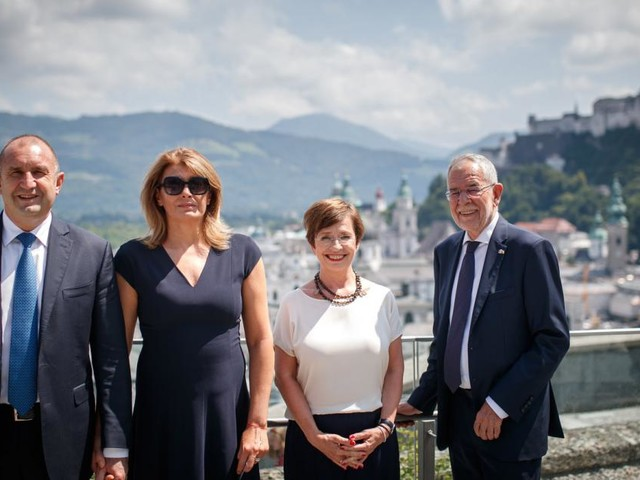 Van der Bellen empfing bulgarischen Amtskollegen Radew in Salzburg