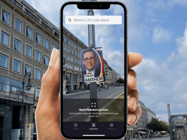 FaceTheFacts: App informiert via Wahlplakat-Scan über Bundestagskandidaten