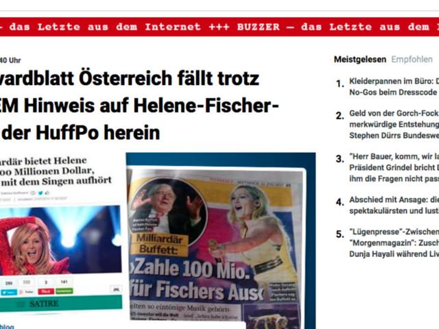 Die österreichische Zeitung, die auf eine HuffPost-Satire hereinfiel