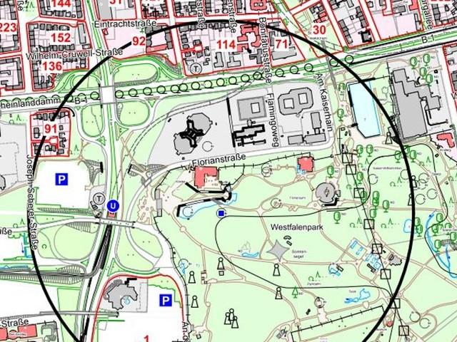 Bombenfund: Entschärfung von zwei Blindgängern im Westfalenpark - 300 Anwohner*innen betroffen