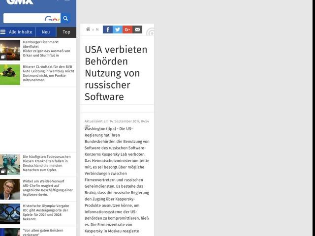 USA verbieten Behörden Nutzung von russischer Software
