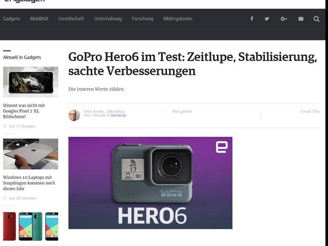 GoPro Hero6 im Test: Zeitlupe, Stabilisierung, sachte Verbesserungen