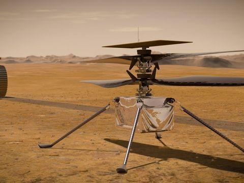 """Hubschrauber: Erstflug von """"Ingenuity"""" über dem Mars erneut verschoben"""
