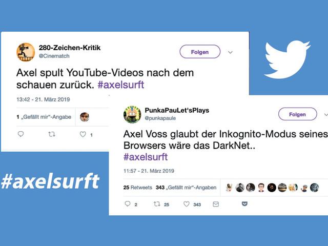 Axel Voss surft: Die 8 lustigsten Tweets