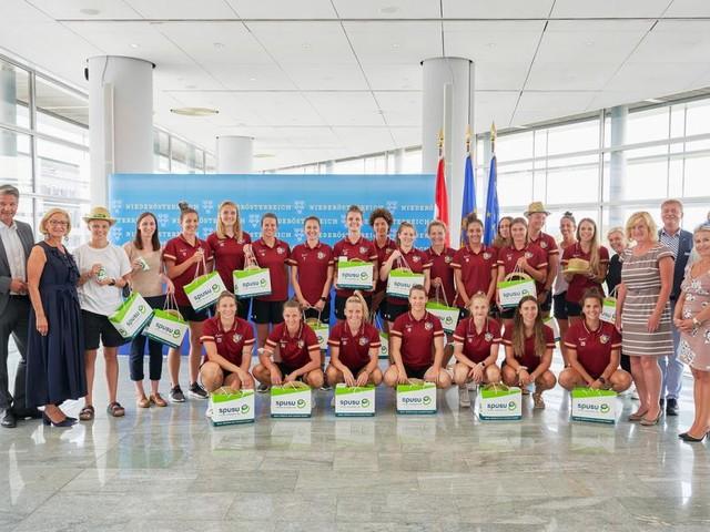 St. Pöltens Frauen wurden vor der Champions League verabschiedet