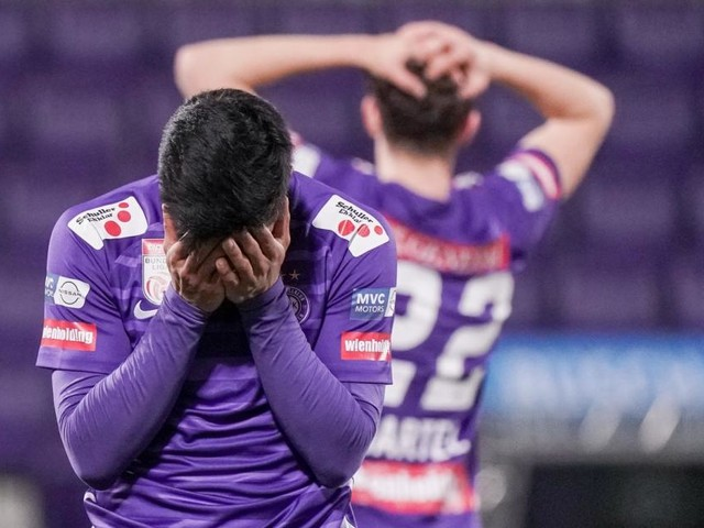 2:2 gegen Ried: Die Wiener Austria enttäuscht auch auf dem Platz