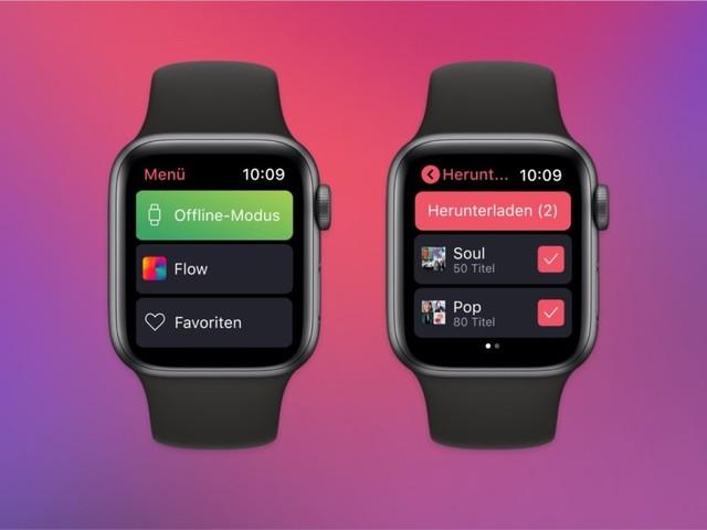 Deezer startet mit Offline-Funktion auf der Apple Watch