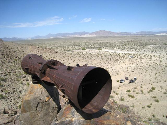 Bis heute ungelöst: Das Rätsel um das Riesen-Megafon in der Mojave-Wüste