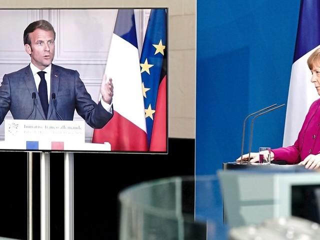 Gewerkschaften nennen Merkel-Macron-Plan unzureichend