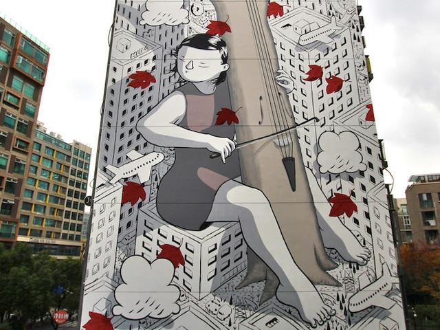 """""""Sound of you"""" – Künstler Millo mit weiterem Mural in Shanghai // China"""