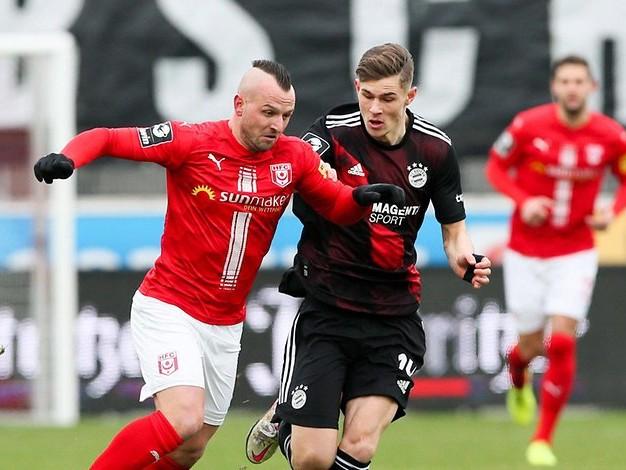 HFC - Bayern II im Liveticker: 0:2 - Kommt Halle noch einmal zurück?