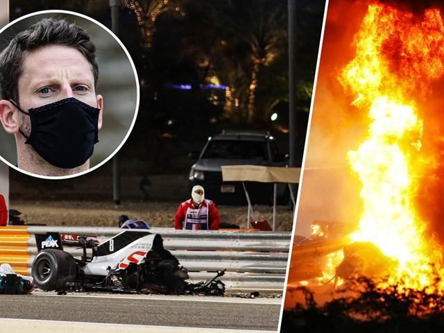 Horrorunfall in der Formel 1: Haas von Grosjean geht in Flammen auf