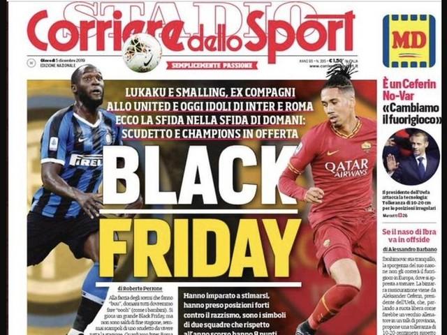 """""""Corriere dello Sports"""": """"Black Friday"""": Italienische Sportzeitung sorgt mit rassistischem Titelblatt für Entsetzen"""