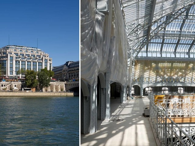 Macron besucht renoviertes Pariser Luxus-Kaufhaus Samaritaine