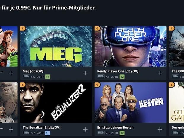 Amazon Prime Video: über 300 Filme für je 0,99 Euro ausleihen