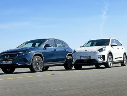 Mercedes EQA vs. Kia e-Niro: Test, Elektro-SUVs, Motor, Preis, Reichweite E-SUVs im Test: Können e-Niro und EQA wirklich die Massen elektrisieren?