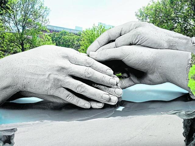 Die zärtlichen Händepaare für den Resselpark bleiben nur Entwurf