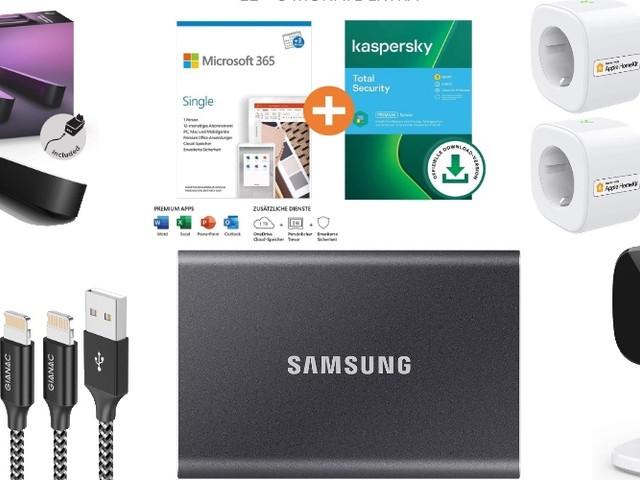 Amazon Blitzangebote: Rabatt auf Philips Hue, Office 365, HomeKit-Steckdosen & -Kameras, 1TB + 4TB ext. Festplatte, eero Mesh und mehr