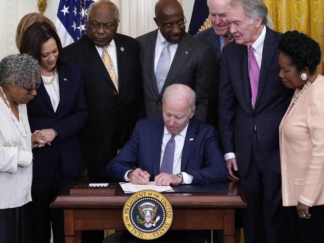 """Gedenken an Ende der Sklaverei: """"Junetheenth"""" ist in USA nun ein Feiertag"""