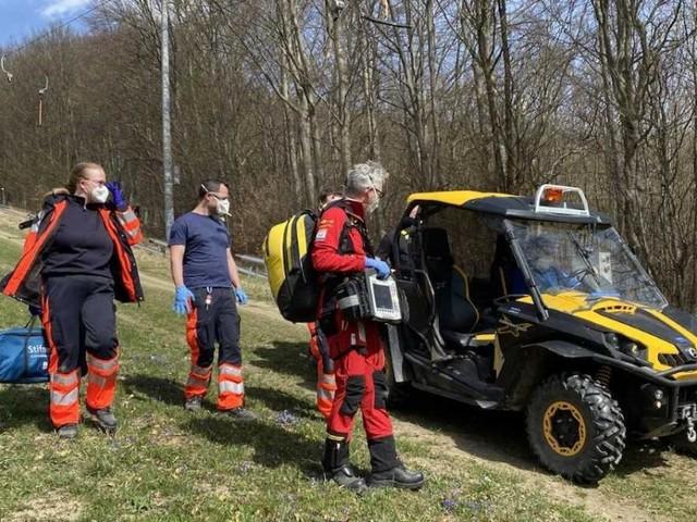 Mountainbiker stürzte in Wien-Penzing: Rettung mit Hubschrauber