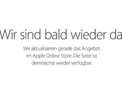 Apple Online Store geht offline: iPhone 8, Apple Watch 3 und AppleTV 4K Bestellungen in Kürze