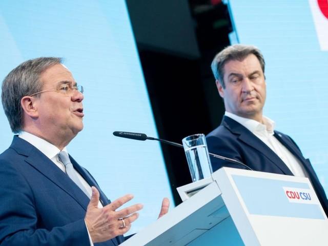 Laschet und Söder stellen Wahlprogramm der Union vor