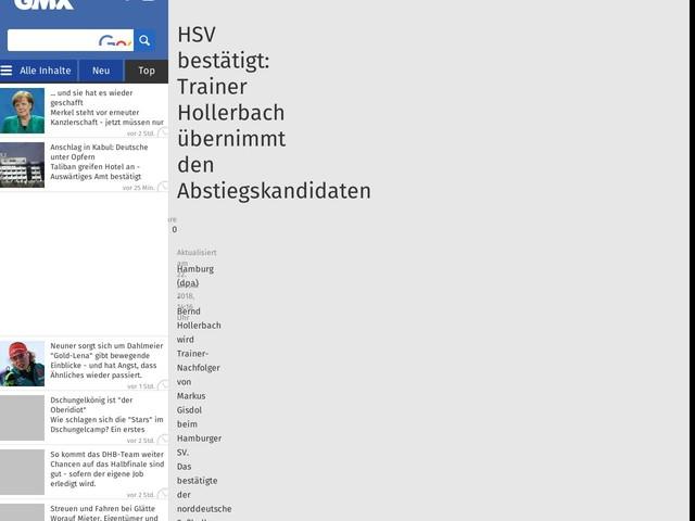HSV bestätigt: Trainer Hollerbach übernimmt den Abstiegskandidaten