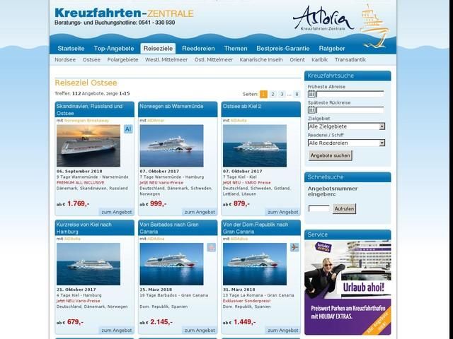Ostsee Kreuzfahrten online buchen