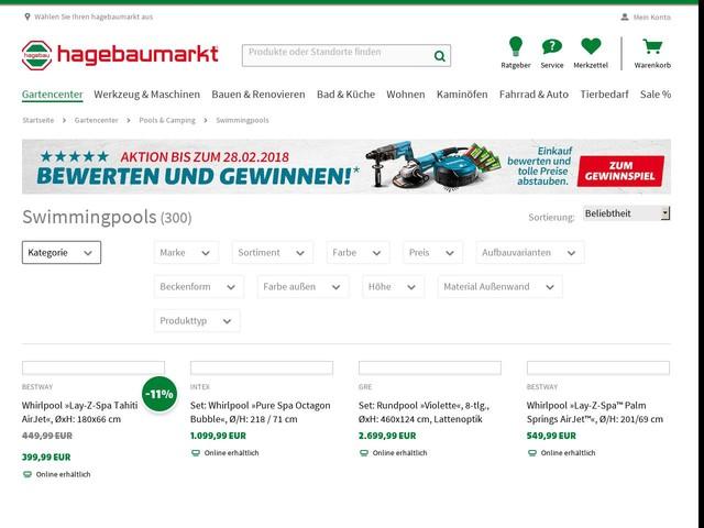 Swimmingpools U0026amp; Schwimmbecken Online Kaufen   Hagebau.de
