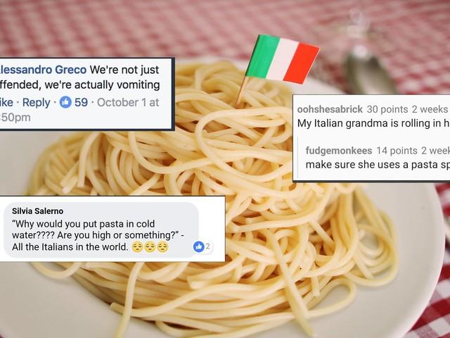 So wütend werden Menschen aus Italien, wenn man ihr Essen verschandelt