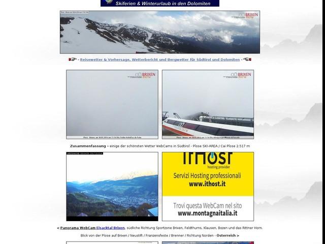 Wetterbericht f?r S?dtirol • Wettervorhersage 7 10 14 Tage Wetter Dolomiten - Live-WebCam Brixen