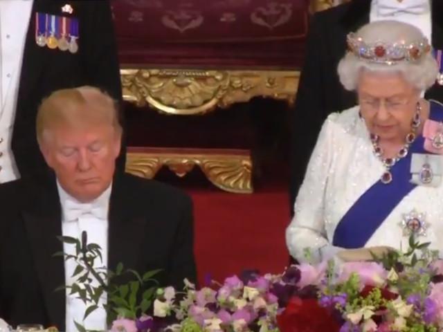 Trump fallen bei Queen-Rede die Augen zu: Die 4 peinlichsten Momente seines Besuchs