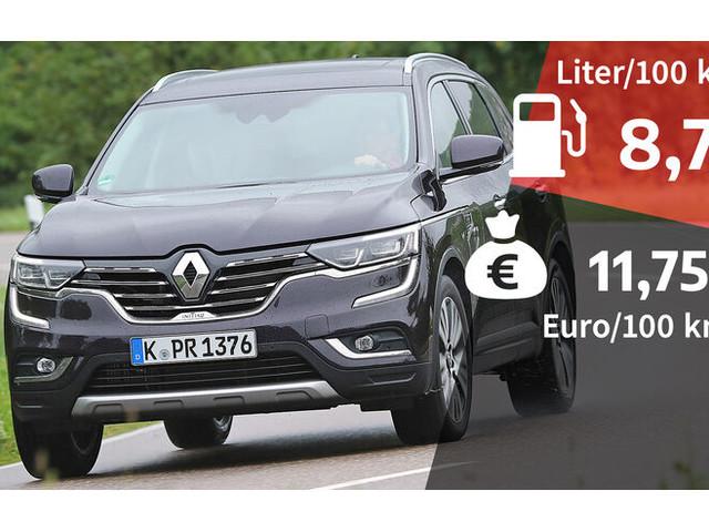 Kosten und Realverbrauch: Renault Koleos dCi 175 4WD Initiale Paris