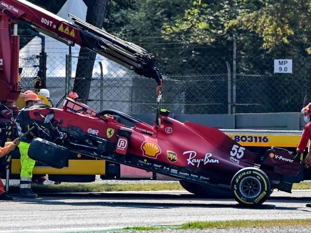 Formel 1: Heftiger Trainingsunfall von Sainz in Monza