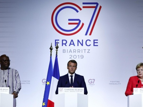 Biarritz - Merkel und Macron treiben Sahel-Initiative voran
