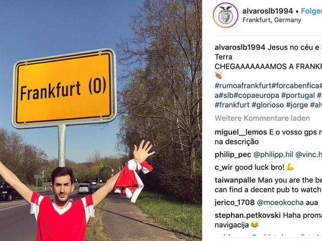 Vermeintliche Irrfahrt von Benfica-Fans nach Frankfurt war PR-Gag